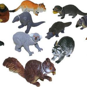 Zvířata lesní větší 11-18cm 13 druhů guma