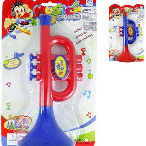 Dětská trumpetka plastová 2 barvy *HUDEBNÍ NÁSTROJE*