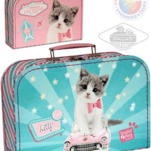 KAZETO Kufr dětský Kočička střední kufřík pro holčičky