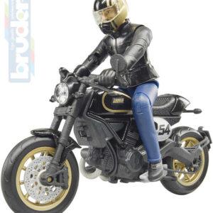 BRUDER 63050 Set motocykl Ducati Cafe Racer s figurkou řidiče plast