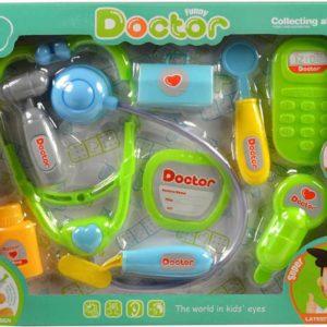 Souprava doktorská dětské lékařské potřeby set s mobilem plast v krabici
