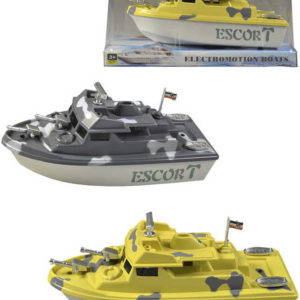 Loď na baterie 19cm člun do vody 4 barvy plast