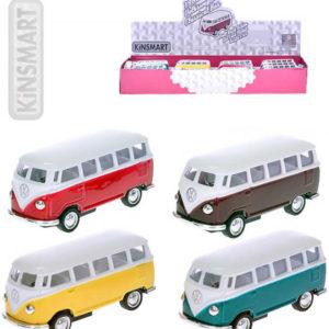 KINSMART Autobus model 1:64 VW Classic kov PB 7cm zpětný nátah 4 barvy