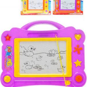 Tabulka magnetická dětský set s razítky a kouzelným perem 3 barvy v sáčku