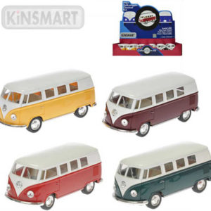 KINSMART Autobus model 1:32 VW Classic kov PB 13cm zpětný chod 4 barvy