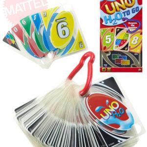MATTEL Hra Uno karty cestovní H2O voděodolné plast *SPOLEČENSKÉ HRY*
