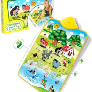 KRTEK Dečka hudební Krteček a zvířátka interaktivní koberec dotykový Zvuk