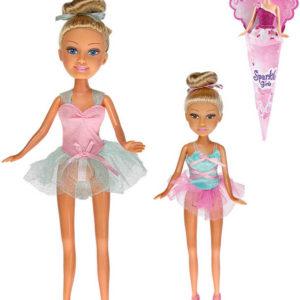 Sparkle Girlz panenka baletka 28cm dlouhé vlasy v kornoutu 4 druhy