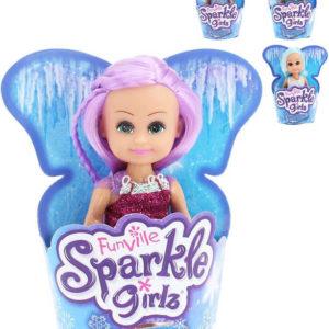Sparkle Girlz panenka zimní princezna 12cm v kornoutu 4 druhy