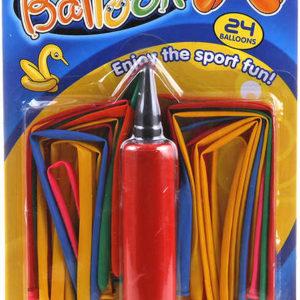 YG Sport Balónky modelovací set 24ks s pumpičkou 2 barvy