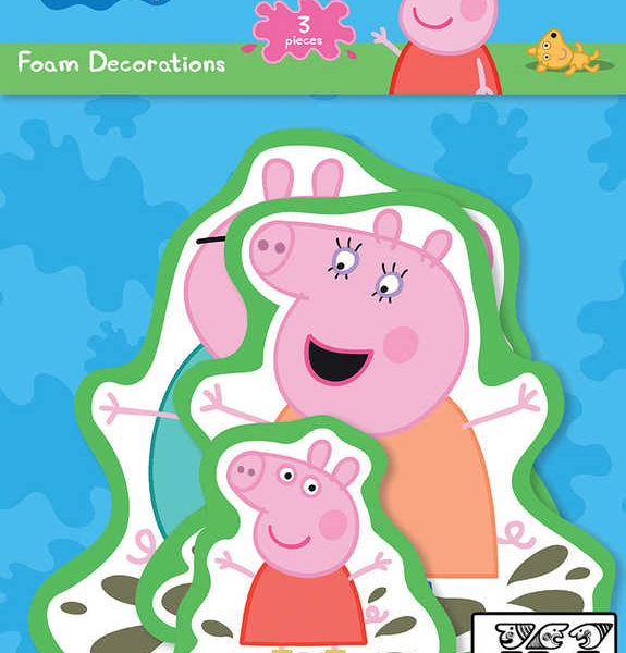 JIRI MODELS Samolepky pěnové set 3ks wall decor Peppa Pig