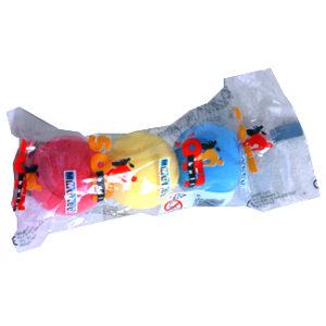 Míček tenisový barevný soft lehký sada 3 kusy v sáčku