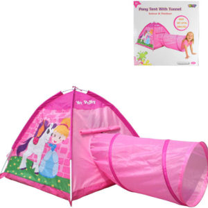 Stan dětský poník a princezna 170x112x94cm s prolézacím tunelem holčičí