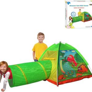 Stan dětský dinosauři 170x112x94cm s prolézacím tunelem klučičí