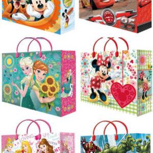 Taška dětská dárková 32x39cm Disney motivy 6 druhů