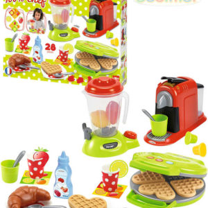ECOIFFIER Dětské domácí spotřebiče kávovar mixér presovač set s doplňky