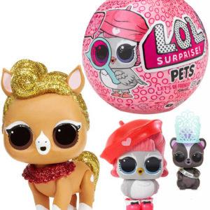 L.O.L. Surprise Pets Eye Spy zvířátko s doplňky v kouli zábavný set 7 překvapení
