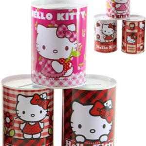 Pokladnička dětská kovová Hello Kitty kulatá kasička 6 druhů