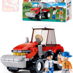 SLUBAN Stavebnice TOWN traktor set 103 dílků + 2 figurky plast