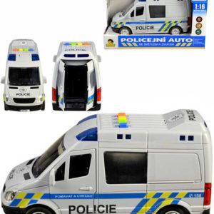 Auto policejní dodávka český design policie ČR na baterie 1:16 Světlo Zvuk