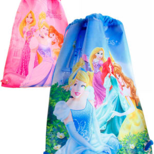 Sáček dětský batoh Princezny pytlík 2 druhy pro holky