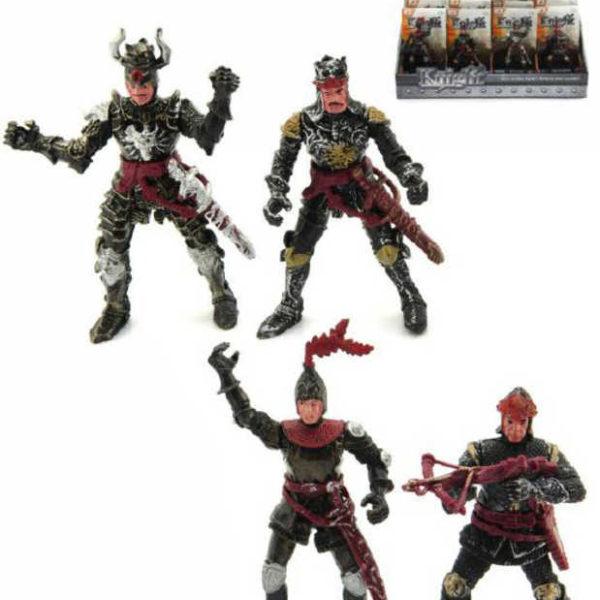 Figurka rytíř 10cm bojovník se zbraní plast různé druhy