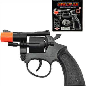 Pistole černá dětský kolt na kapsle 8 ran na kartě