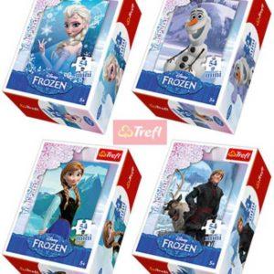 TREFL PUZZLE 54 dílků mini Ledové Království (Frozen) 4 druhy 154141