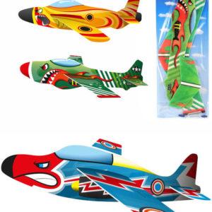 Letadlo bojové soft házecí pěnové 3 druhy bombardér v sáčku plast