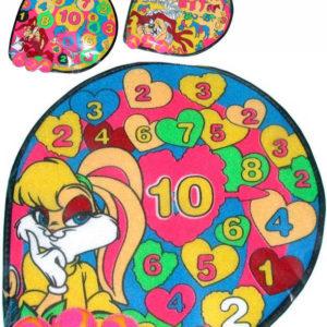 Set terč obrázkový textilní 30cm na suchý zip + 3 soft pěnové míčky 3 druhy