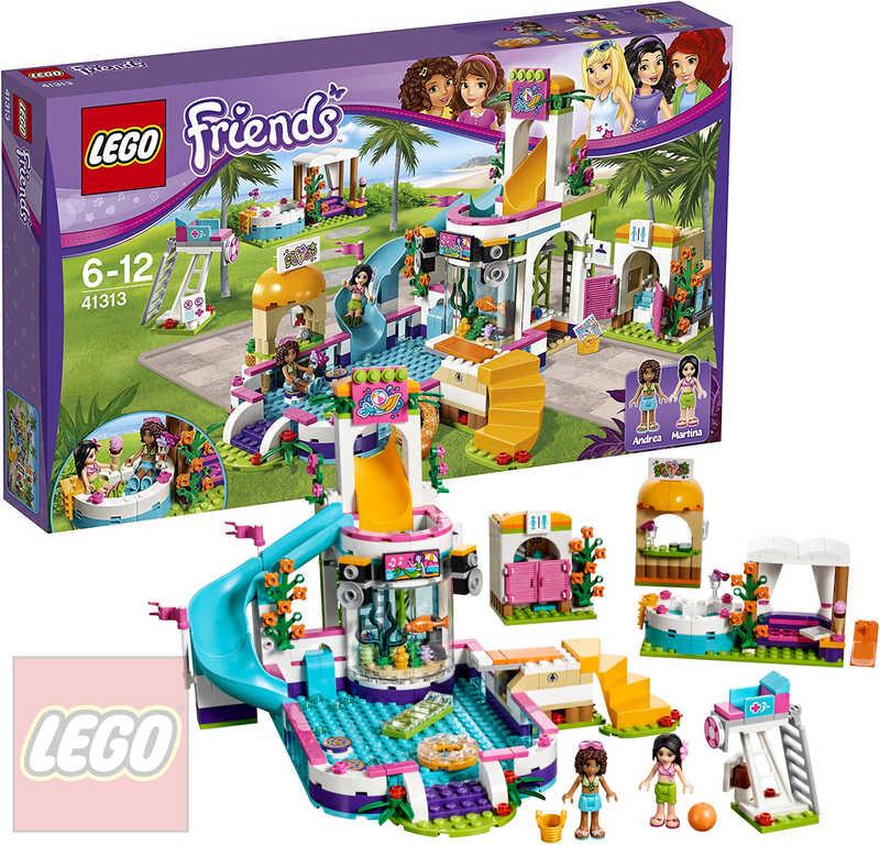 1e851fefa LEGO FRIENDS Letní bazén v městečku Heartlake 41313 STAVEBNICE ...