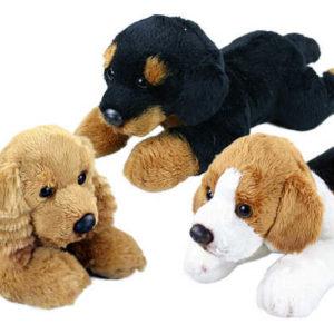 PLYŠ Pes ležící 23 cm 3 druhy *PLYŠOVÉ HRAČKY*