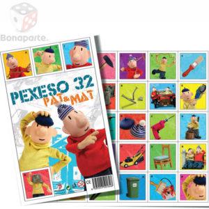 BONAPARTE Pexeso Pat a Mat 32 dvojic obrázkové *SPOLEČENSKÉ HRY*