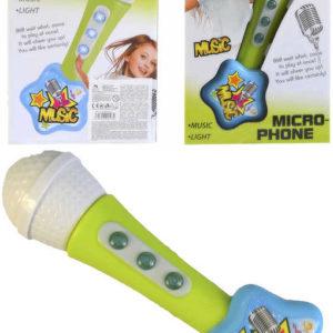 Mikrofon dětský plastový na baterie Světlo Zvuk