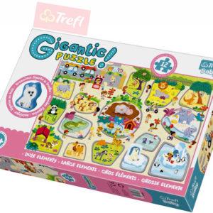 TREFL Puzzle baby obří v ZOO 12 dílků skládačka velké dílky pro miminko 90756