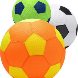MAC TOYS Mega míč 40cm velký látkový nafukovací vzor kopačák 6 barev