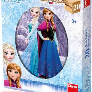 DINO DŘEVO Kostky obrázkové Frozen (Ledové Království) set 20ks kubus