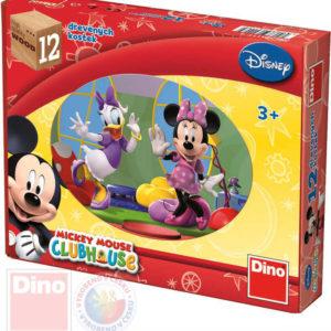 DINO DŘEVO Kostky obrázkové Mickey Mouse set 12ks kubus DŘEVĚNÉ HRAČKY