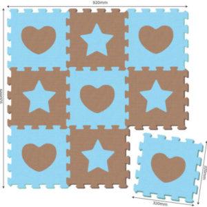 PUZZLE Koberec soft puzzle 9 ks TVARY měkké bloky na zem