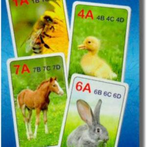 HRA Karetní Kvarteto obrázkové FARMA 32 karet *SPOLEČENSKÉ HRY*