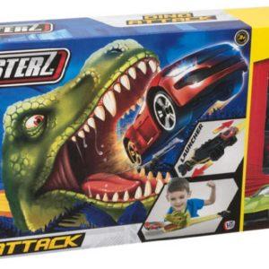Teamsterz Dinosaurus akční set 3 kovová autíčka s dráhou a vystřelovačem