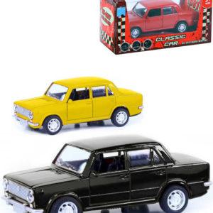 Auto retro model Lada 12cm kovové zpětný nátah 3 barvy v krabičce