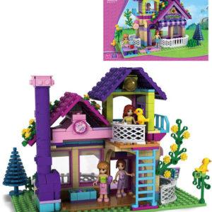 AUSINI Stavebnice DÍVČÍ SVĚT Velký zahradní domek sada 507 dílků + 3 figurky plast