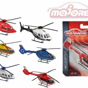 MAJORETTE Vrtulník kovový 13cm 2 druhy 6 barev na kartě