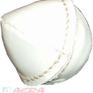 ACRA Míček kriketový 150g kožený šitý bílý kůže