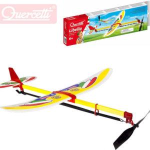 QUERCETTI Libella II letadlo házecí model kluzák vrtule na gumku v krabičce