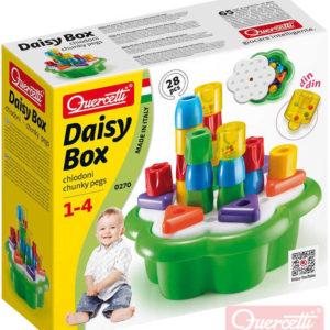 QUERCETTI Daisy Box Chiodoni baby STAVEBNICE mozaiková 3D 28 dílků plast