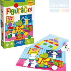 GRANNA Hra Figuráčci poznávání tvarů a barev se samolepkami *SPOLEČENSKÉ HRY*