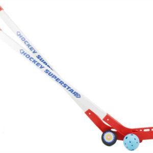 Sada hokej - Hokejka na florbal s míčem a pukem 82,5 cm