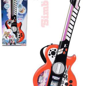 SIMBA Kytara dětská elektronická mp3 na baterie Světlo Zvuk HUDEBNÍ NÁSTROJE